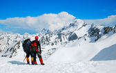 Two climbers on the Himalayan mountain — Stock Photo