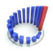3D blue circular graph — Stock Photo #8772406