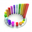 3D Circular graph — Stock Photo #8772414