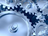 Industrial gears set — Stock Photo