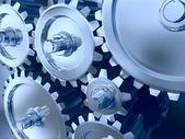 Titanium and steel gears — Stock Photo