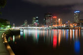 Brisbane City At Night - Queensland - Australia — Stock Photo