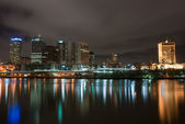 Brisbane City At Night - Queensland - Australia — Stock Photo
