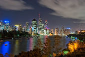 Brisbane city op nacht - queensland - australia — Stockfoto