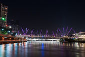 Brisbane City - Kurilpa Bridge At Night - Queensland - Australia — Stock Photo