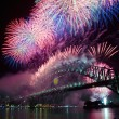 Sydney Harbour New Year's Eve NYE Fireworks — Stock Photo #8301511