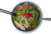 Vietnamese Spicy Beef Noodle (Bun Bo Hue) — Stock Photo
