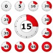 Red Timers — Stockvector #10068682
