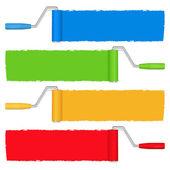 Rodillos de pintura — Vector de stock