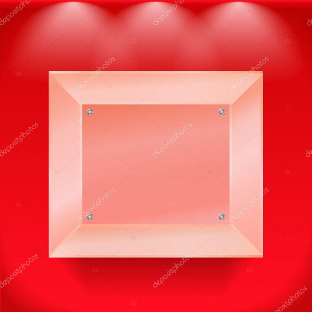 Transparent glass showcase, vector eps10 illustration — Stock Vector #10201213