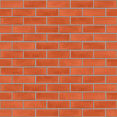 Seamless Brick Wall — Vector de stock