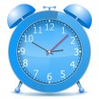 Blue Alarm Clock — Stock Vector