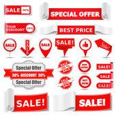Bannières de vente — Vecteur
