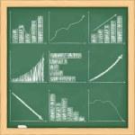 Graphs on blackboard — Stock Vector #10547216