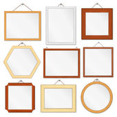 Wooden Frames Set — Vector de stock