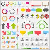 Elementos de infografía — Vector de stock
