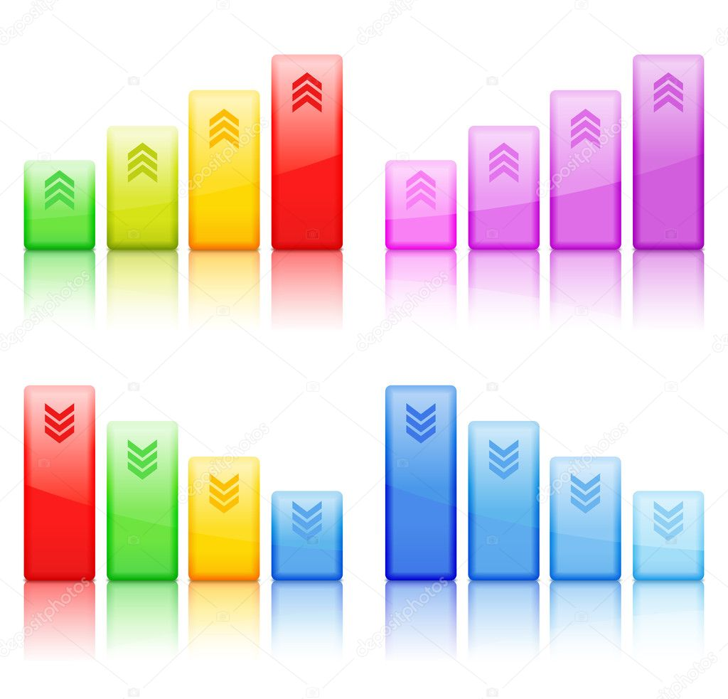 Bar graphs, vector eps10 illustration — Stock Vector #10663327