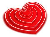 Red Hearts — Wektor stockowy
