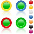 Stock Vector: Round buttons