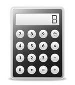 Calcolatrice vector nero — Vettoriale Stock