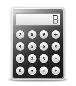 Vector Black Calculator — Stockvector