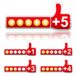 Rate Buttons — Stock Vector