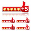Rate Buttons — Stockvector #8087765