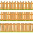 Stock Vector: Wooden Fences