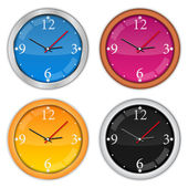 Clock Icons — Stock Vector