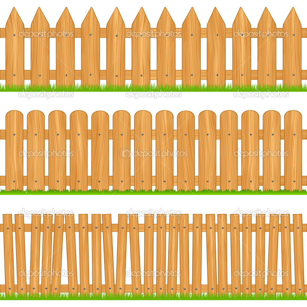 Wooden fences stock vector human 306 8176284 for Cerco illustratore