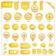Vector Sale Tags — Stock Vector