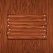 Tablero de madera — Vector de stock