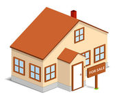Isometric house for sale — Stock Vector