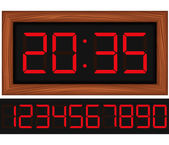 Digital clock — Stockvector