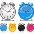 Vector Alarm Clocks — Stock Vector