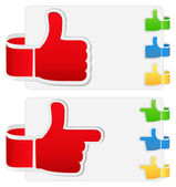 Thumb up signs — Stock Vector