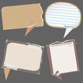 бумаги речи пузыри — Cтоковый вектор