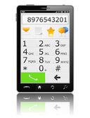 Nowoczesny telefon komórkowy z klawiaturą — Wektor stockowy
