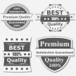 Set of Premium Quality Labels — Imagen vectorial