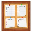 Stock Vector: ToDo List and Checlist