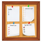 ToDo List and Checlist — Stock Vector