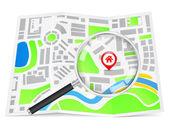 Wyszukaj dom koncepcja — Wektor stockowy