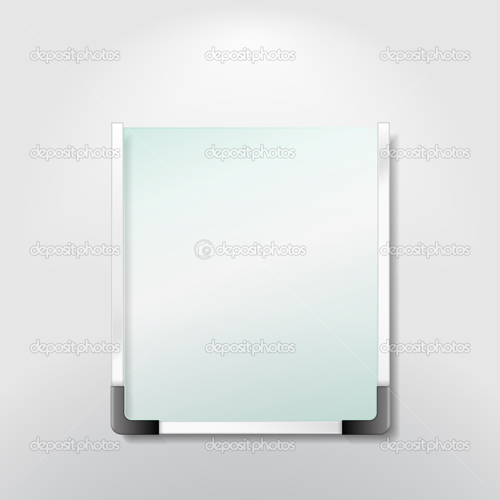 Blank information board, vector eps10 illustration — Stock Vector #9587774
