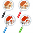 Stock Vector: Search for house concept