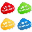 Discount Stickers - Stock Vector
