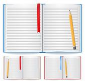 Open notebook — Stock Vector