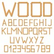 Wooden alphabet — Stock Vector
