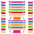 Ribbons Set - Stock Vector