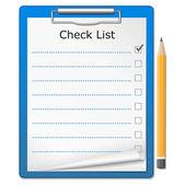 Clipboard with Checklist — Stock Vector
