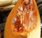 Pumpkin with Seeds — Photo